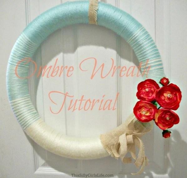 ombre wreath tutorial