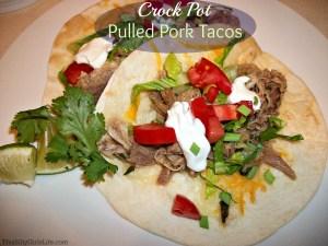 crock pot pulled pork tacos