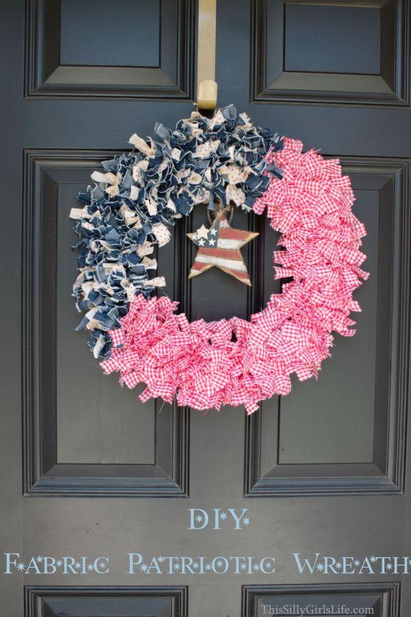Diy Patriotic Fabric Wreath - Silly Girl' Kitchen