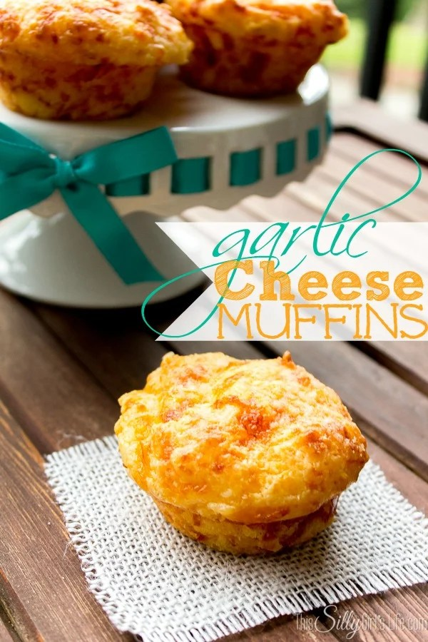Garlic Cheese Muffins recipe from https://ThisSillyGirlsLife.com #CheeseMuffins #Thanksgiving