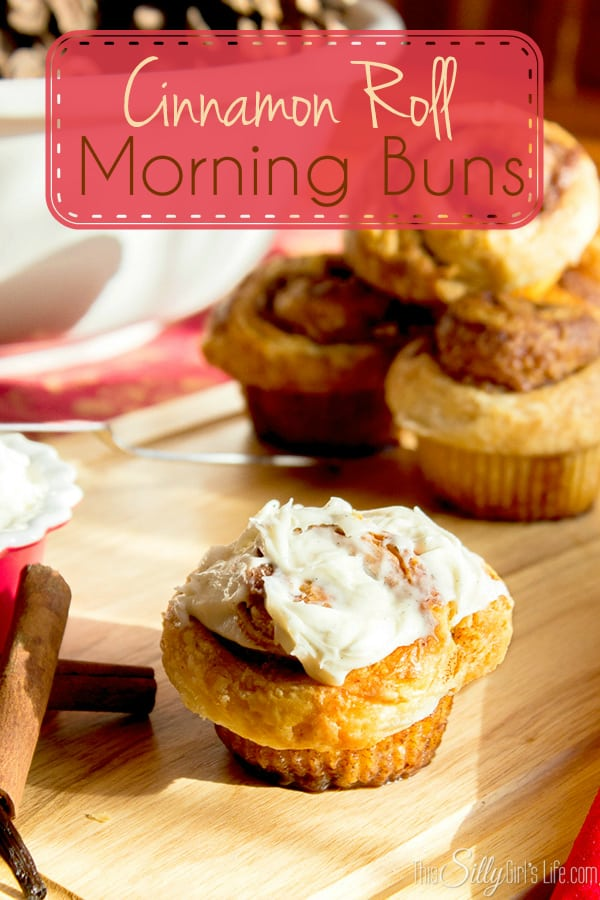 Cinnamon Roll Morning Buns, super flaky croissant like on the outside and moist, cinnamony deliciousness on the inside! AND, topped with the BEST cream cheese frosting, YUM!