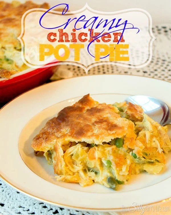 Creamy Chicken Pot Pie, such a classic but elevated to the next level with a creamy filling and flaky cream cheese crust!