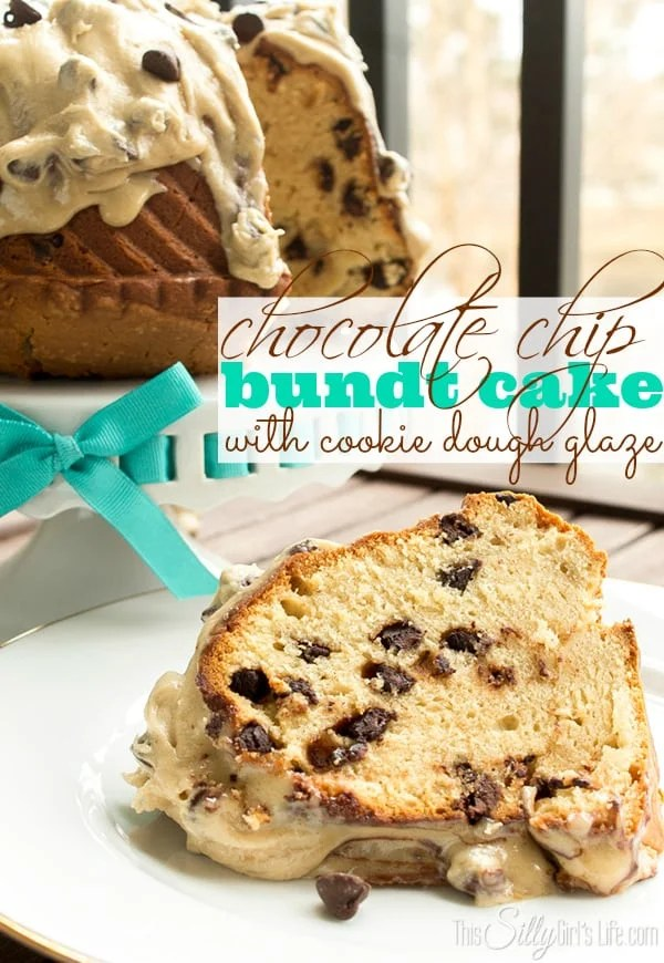 Chocolate Chip Bundt Cake with Cookie Dough Glaze, the name says it all... YUM!