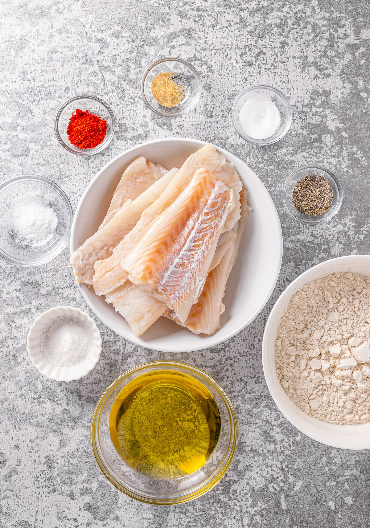 Ingredients needed to make Captain D's Crunchy Battered Fish Recipe