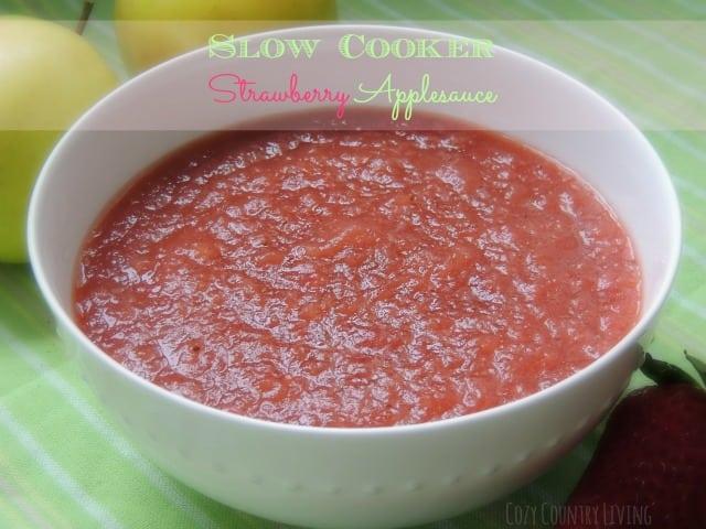 Slow-Cooker-Strawberry-Applesauce
