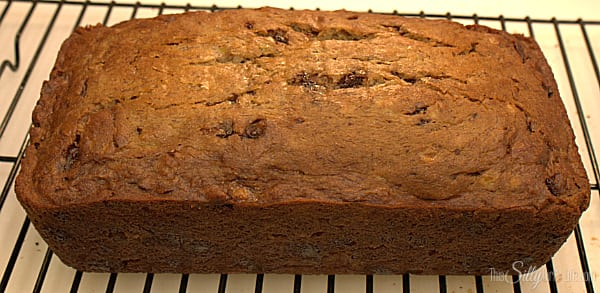 Take bread out of oven and let cool for 20 minutes on wired rack. Remove bread from pan and let cool completely.