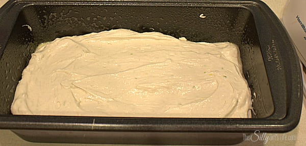 Scrap batter into loaf pan that has been sprayed with cooking spray. Bake for 20 minutes, rotate the pan 180 degrees for even cooking and bake for a remaining 20 minutes or until a toothpick inserted comes out clean.
