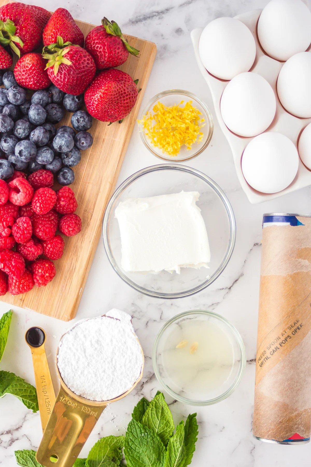 Ingredients needed to make Berry Tarts
