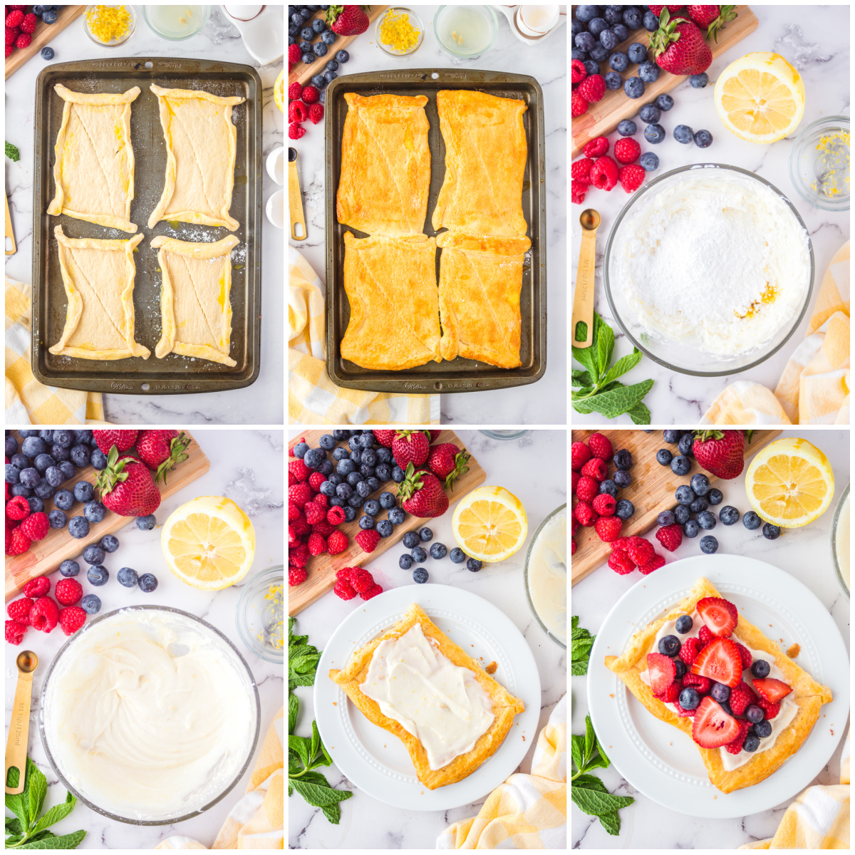 Step by step photos on how to make Berry Tarts