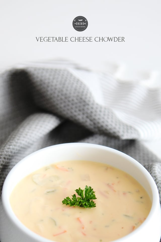 Vegetable Cheese Chowder, super cheesy and creamy vegetable chowder, perfect for cold nights!
