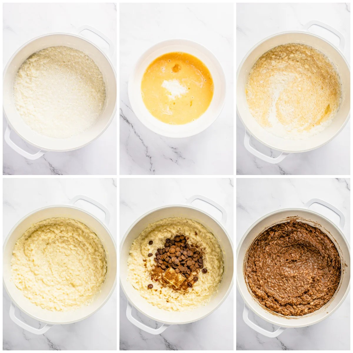 Step by step photos on how to make Chocolate Rice Pudding