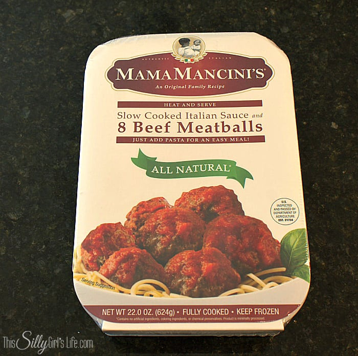 Meatball Sub Cups, meatballs and provolone cheese baked in crescent roll cups. Served with tomato sauce, a great party appetizer, yum! - ThisSillyGirlsLife.com #MancinisMeatballs #ad