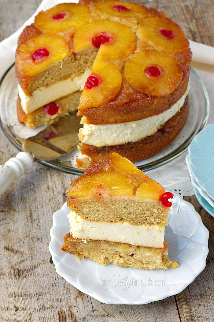 Two Layer Pineapple Upside Down Cake