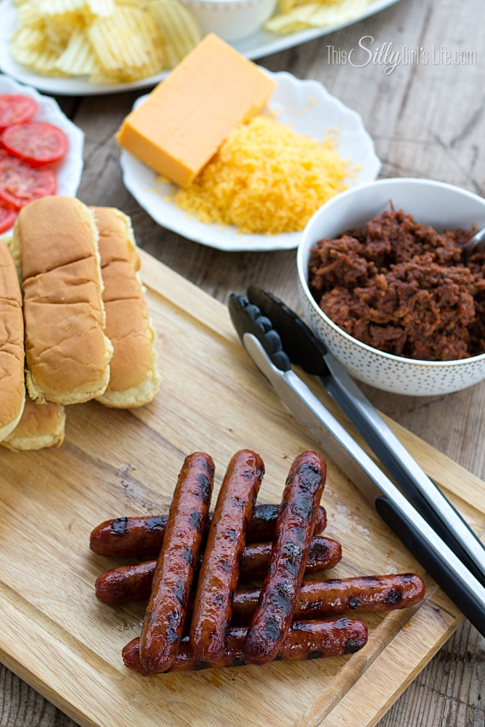 -Chili Sauce- Chili Cheese Hot Dogs from ThisSillyGirlsLife-5