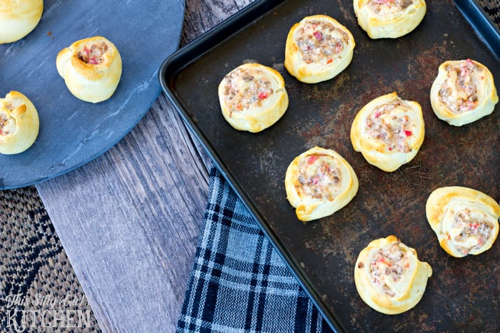 Sausage Dip Pinwheels, classic Jimmy Dean® sausage dip rolled in crescent rolls and baked. A flavor explosion and the perfect party appetizer! from ThisSillyGirlsLife.com #ad @walmart #joy2themeal