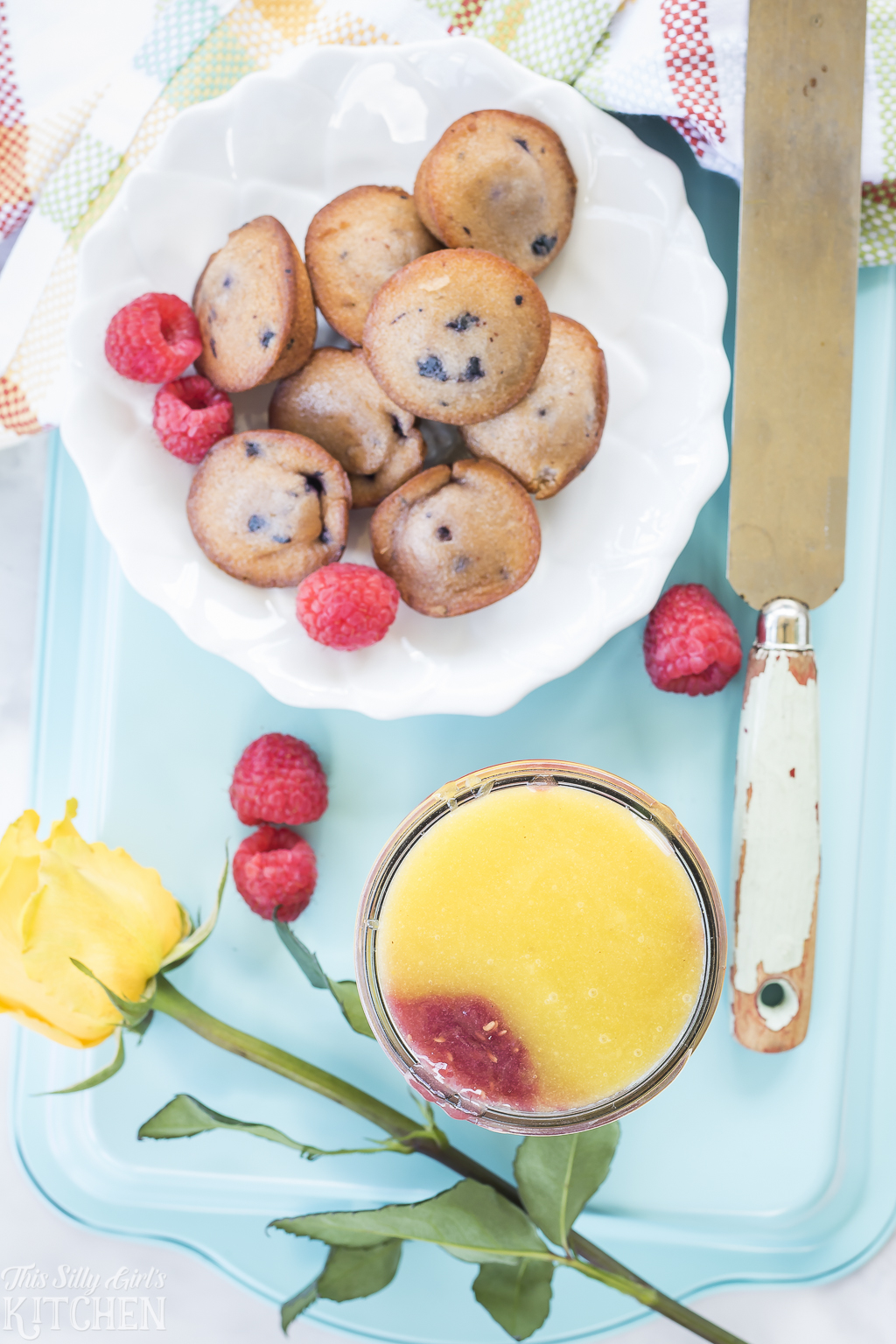 Raspberry Lemonade Curd, a beautiful, layered curd made with fresh squeezed lemons and raspberries. Perfect for slathering on toast, muffins or for use in desserts. from ThisSillyGirlsKitchen.com