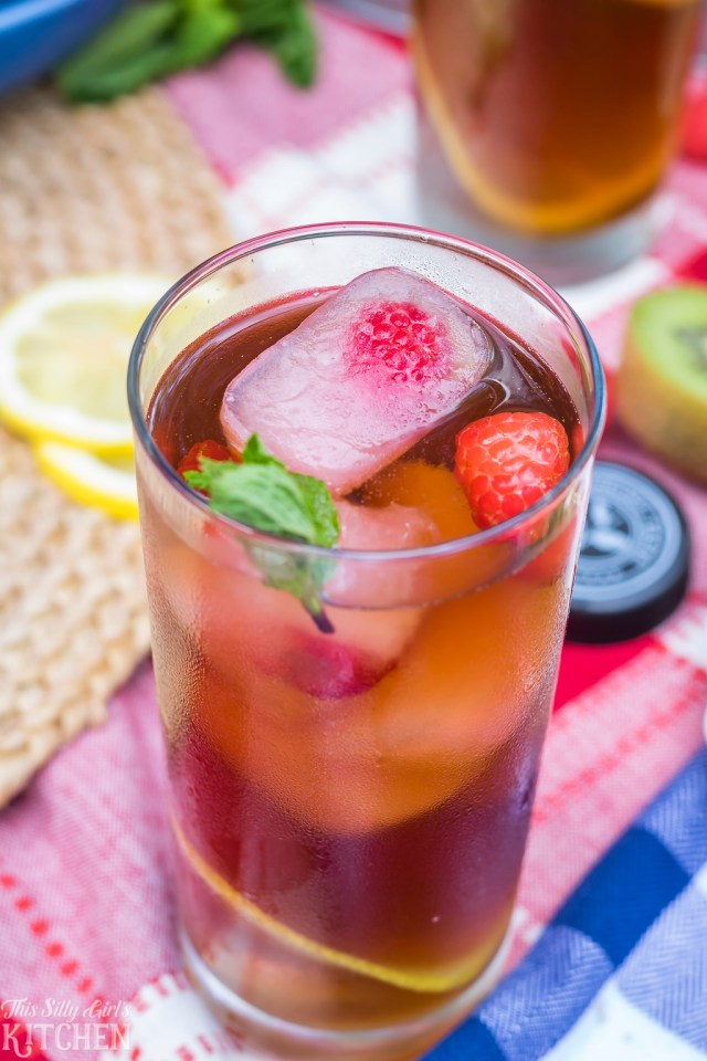Lemonade Infused Iced Tea, a simple and refreshing summer or anytime beverage! Recipe from ThisSillyGirlsKitchen.com