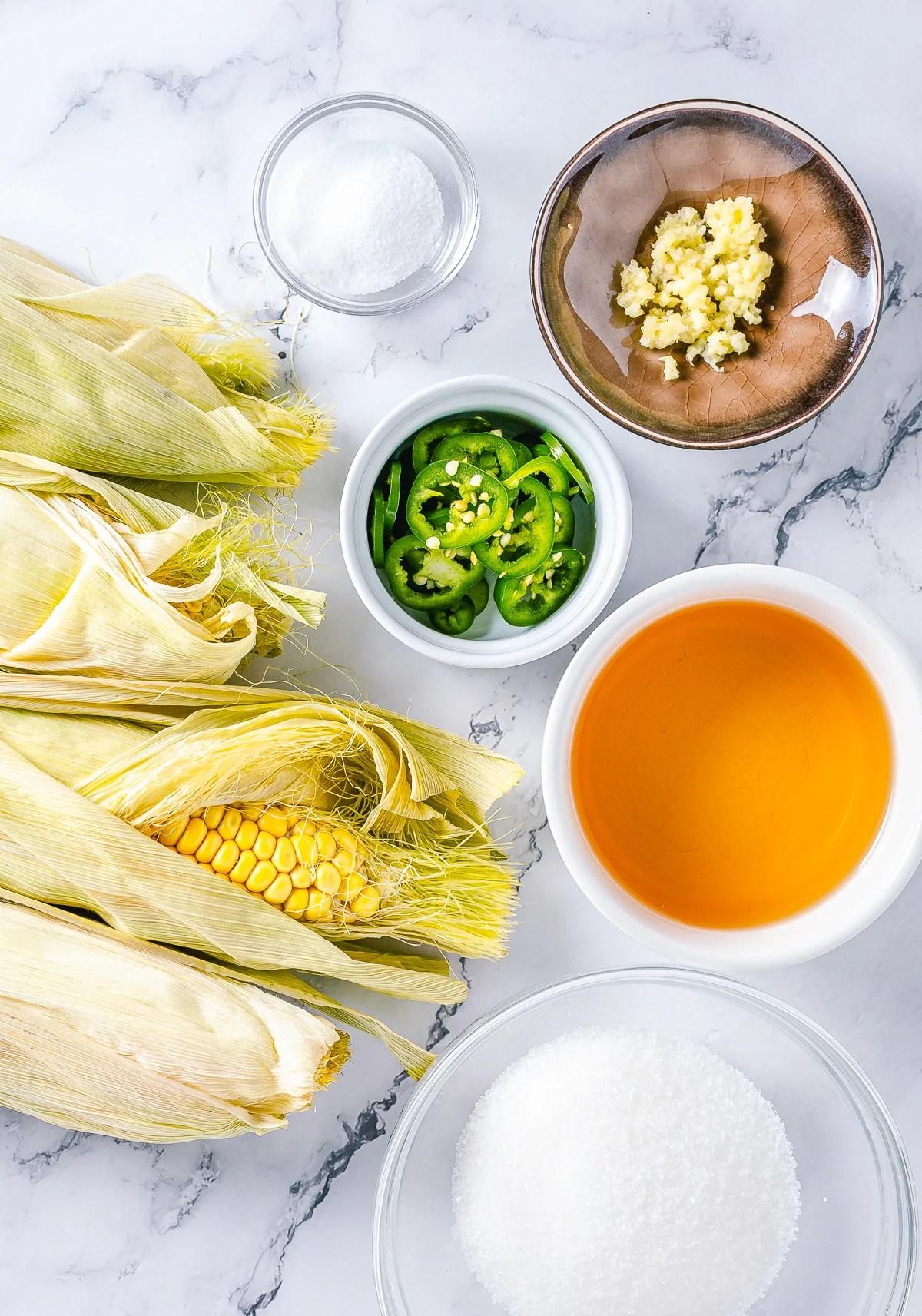 Ingredients needed to make Corn Relish