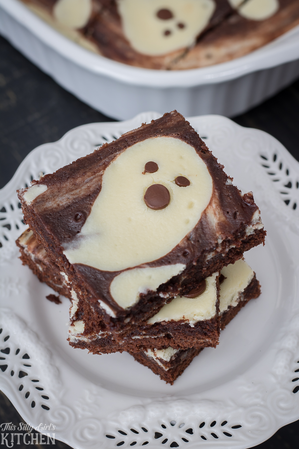 Ghost Cheesecake Brownies This Silly Girls Kitchen