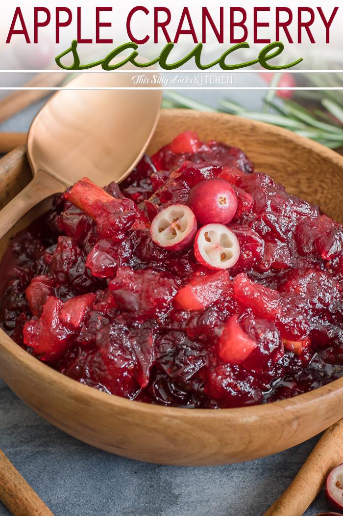 Apple Cranberry Sauce via @danadevolk