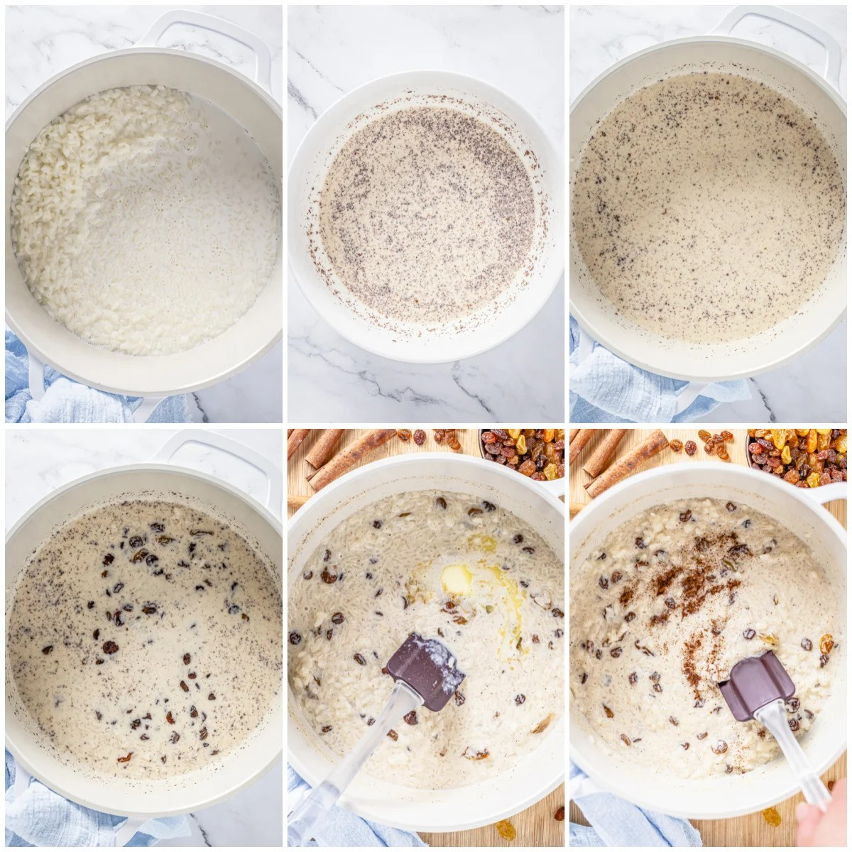 Step by step photos on how to make Rice Pudding with Cooked Rice