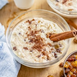 Rice Pudding with Cooked Rice