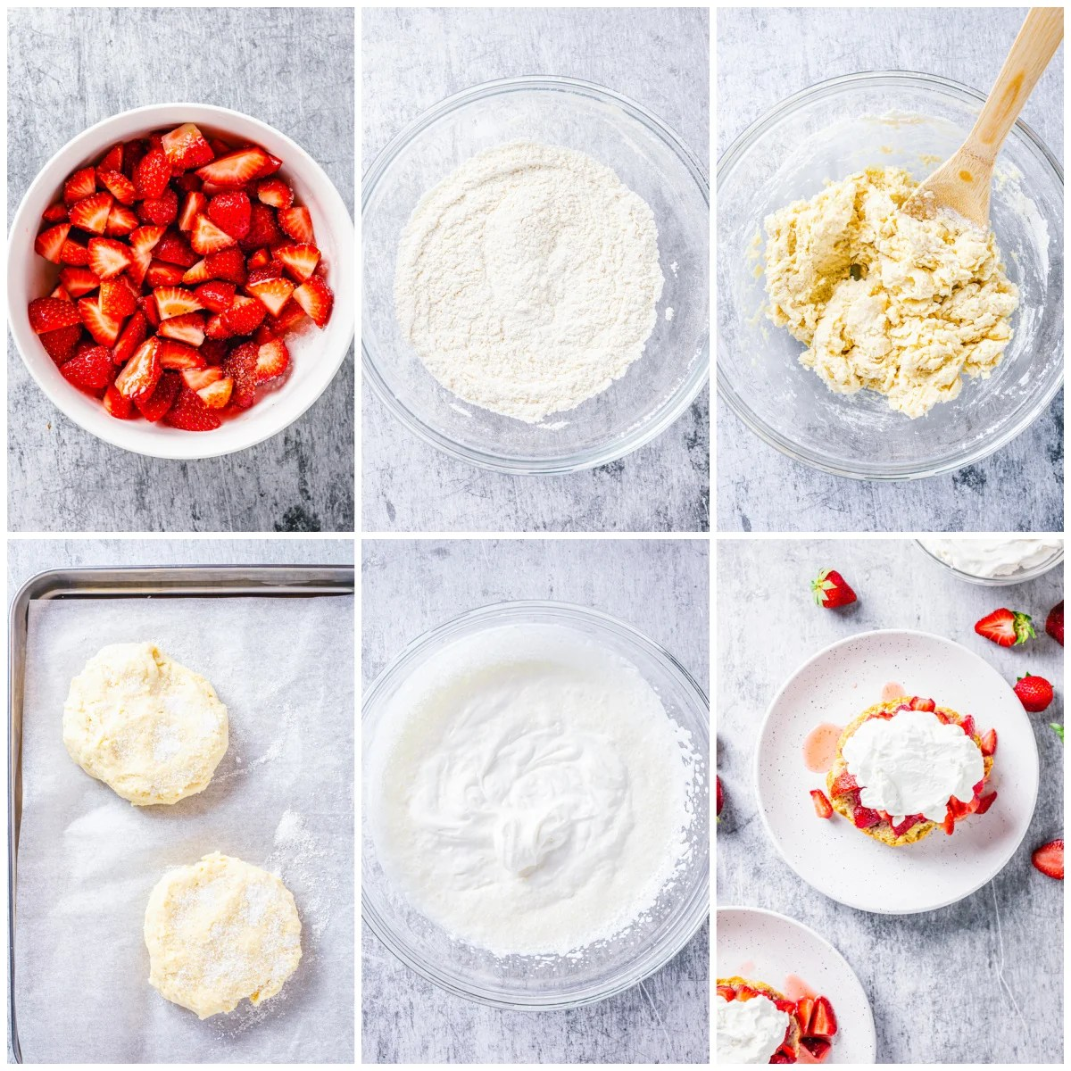 Step by step photos on how to make a Strawberry Shortcake Recipe