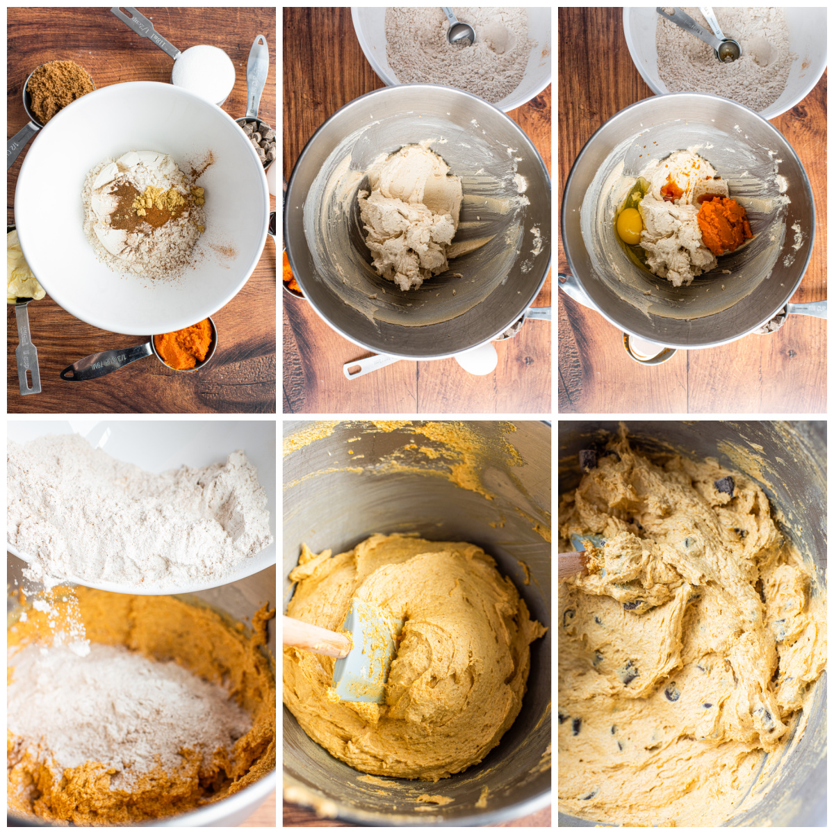 Step by step photos to make a Pumpkin Chocolate Chip Cookie Recipe.