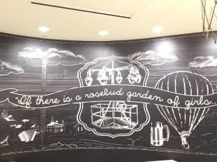 Mural in lobby of Hotel Indigo