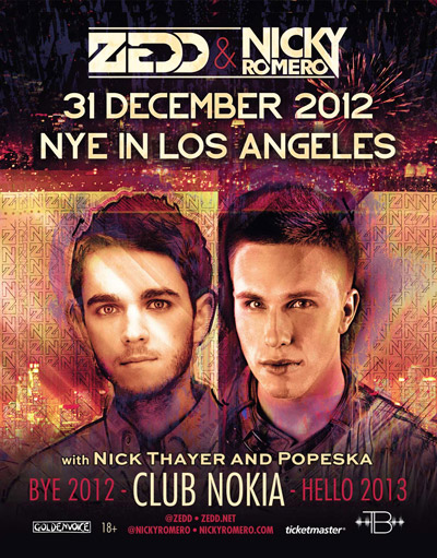 [CONTEST] Nicky Romero & Zedd New Years Eve at Club Nokia VIP Experience Giveaway