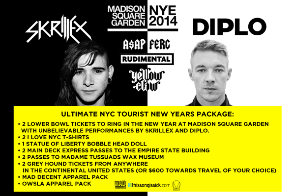 Enter To Win The Ultimate New Years Prize Pack To NYC For Skrillex