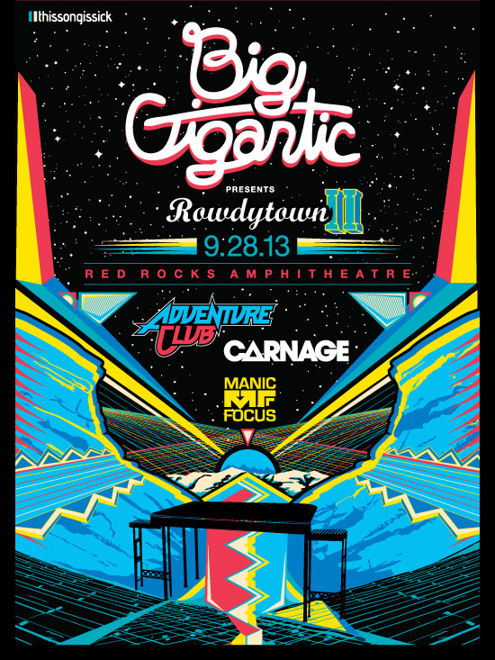 Full Lineup Announced for Big Gigantic Rowdytown II at Red Rocks + VIP Giveaway