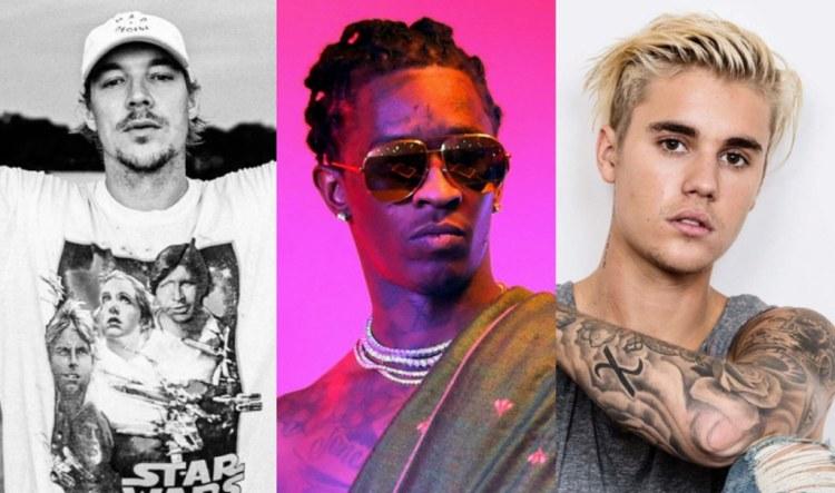 Justin Bieber Diplo Young thug