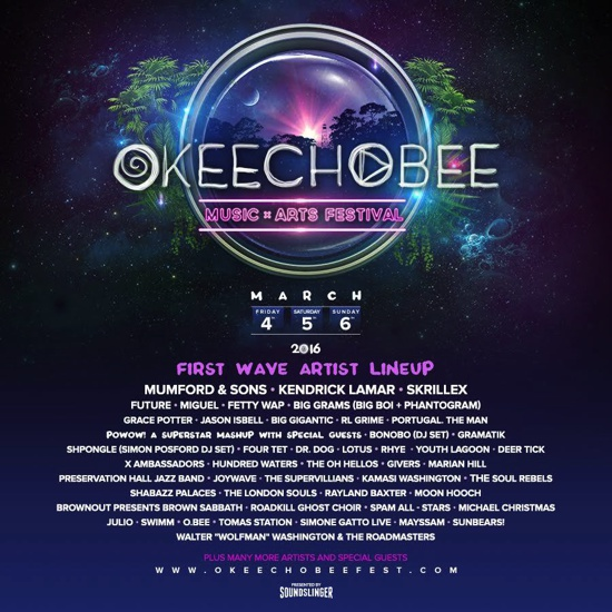Past Bonnaroo Organizer Announces New 2016 Music Festival 'Okeechobee' With Impressive Lineup