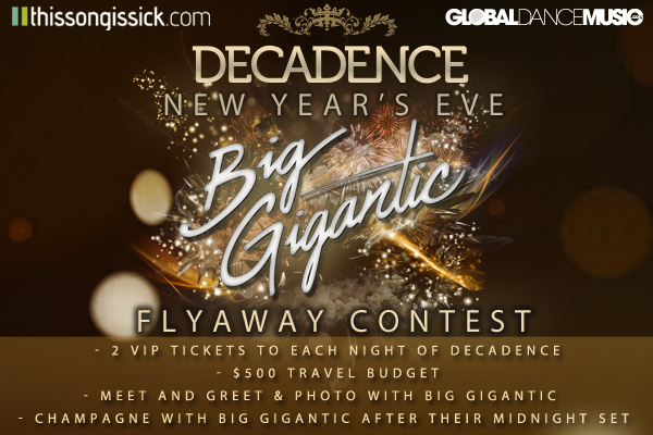 Ring In 2015 With A Flyaway Trip To Decadence Festival + Champagne Toast with Big Gigantic