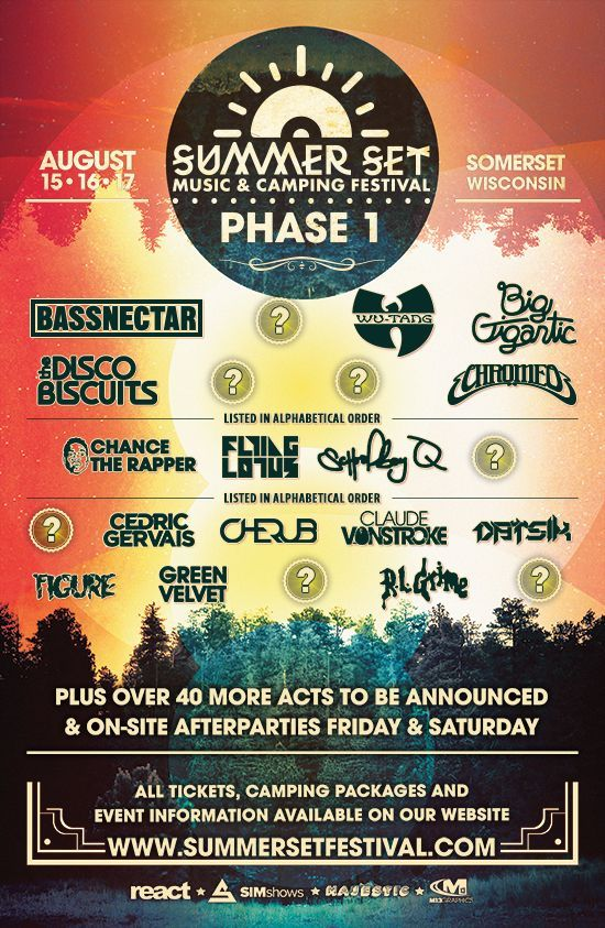 Summer Set Music & Camping Festival 2014 Packs Impressive Phase 1 Lineup