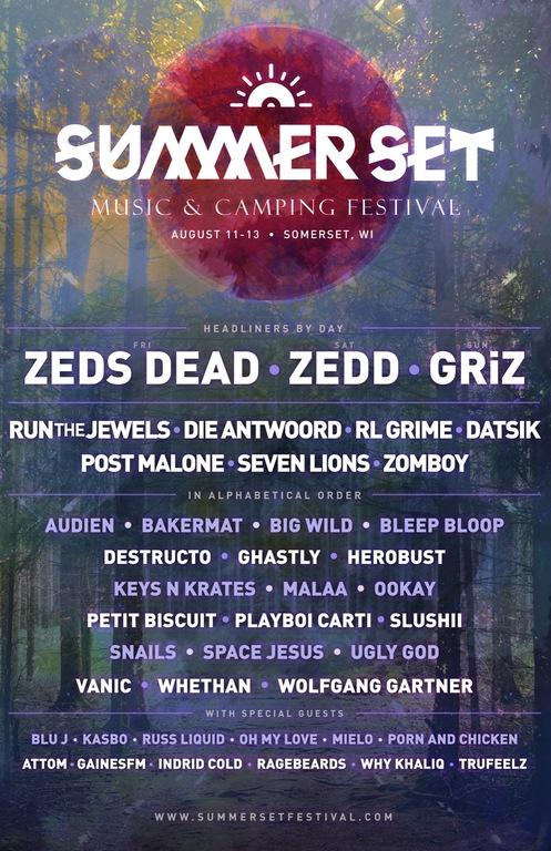 Summer Set Music & Camping Festival 2017 Lineup