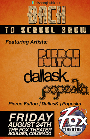 Thissongissick.com Presents Back to School Concerts August 24th and 25th in Denver at Beta Nightclub and The Fox Theatre