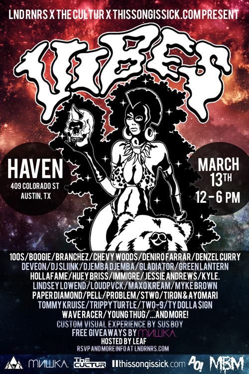 """TSIS Presents Massive Free 2014 SXSW Party """"VIBES"""" With Over 30 DJs and Rappers on 2 Stages"""
