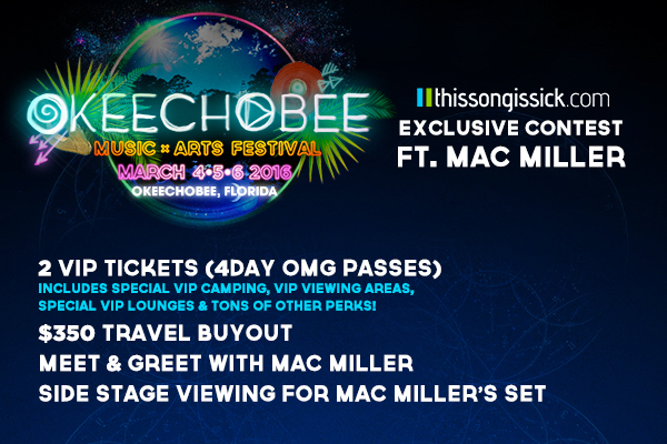 Win VIP 4-DAY PASSES + TRAVEL To Okeechobee Music & Arts Festival & Meet Mac Miller