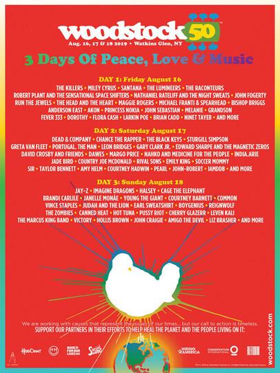 Woodstock 50 lineup