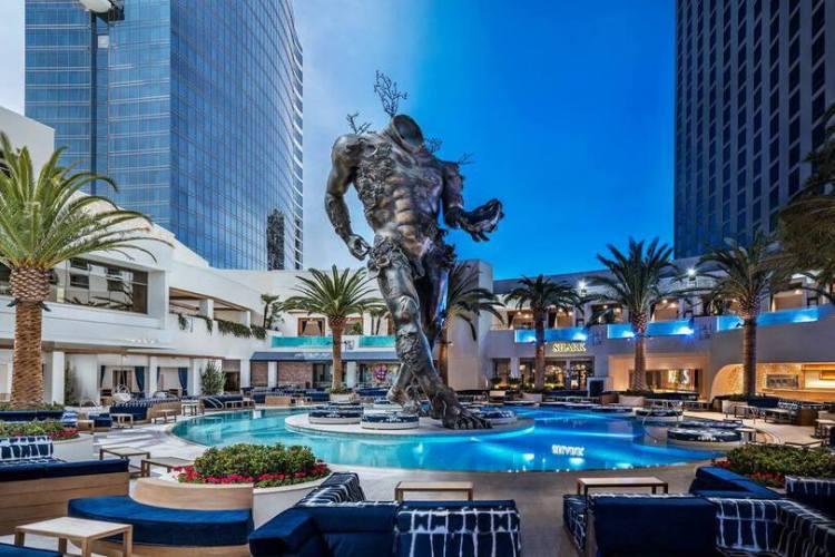 KAOS Pool Statue