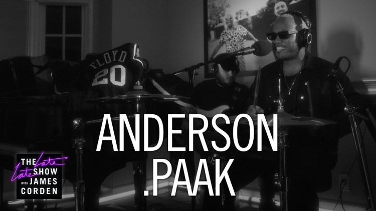 Watch Anderson .Paak Perform Live On The Late Late Show