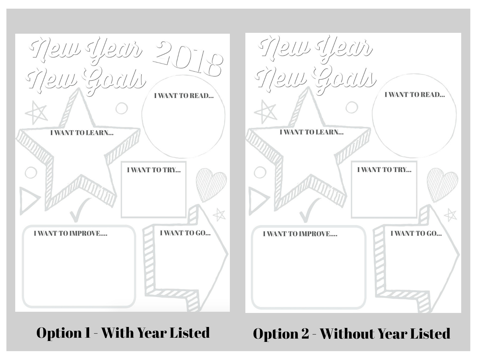 Goal Setting Printable For Kids