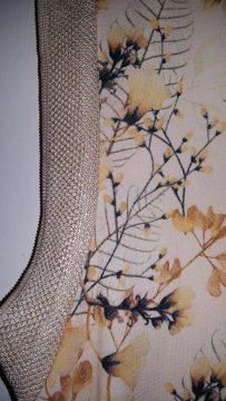 Zara floral print top close up