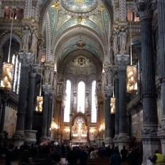 Church service Basilica de Notre Dame Lyon