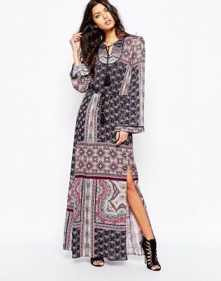 Mango printed maxi dress