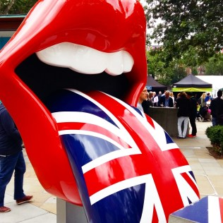 Rolling Stones Exhibitionism Union Jack tongue