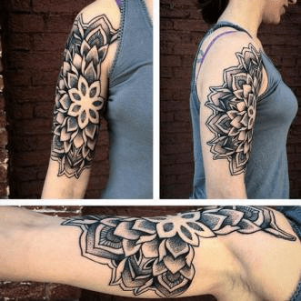 Mandala inner arm tattoo