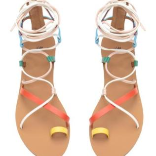 H&M multi coloured roman sandals 1